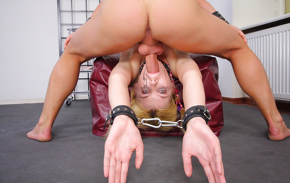 Blonde milf in lingerie