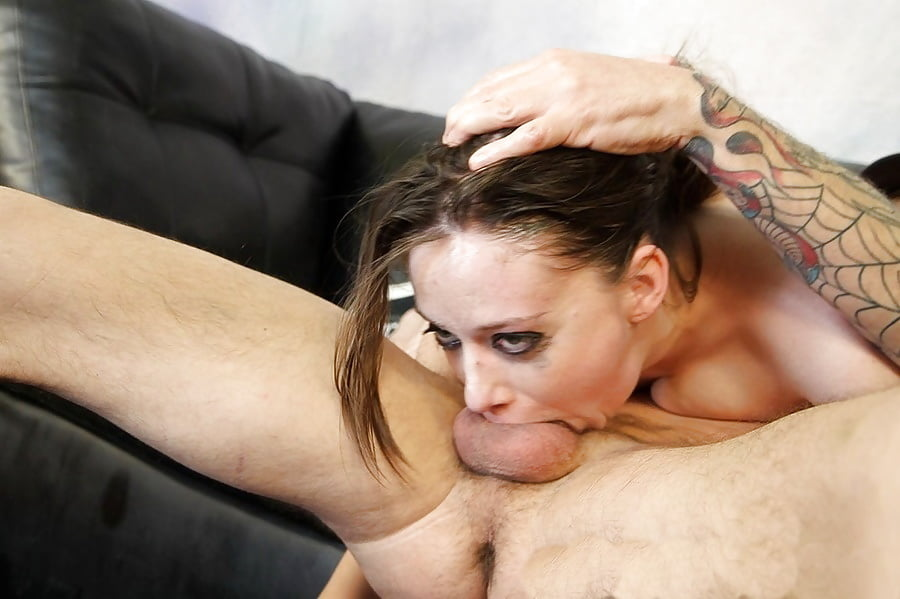 Brutal Gagging Face Fuck For Tattooed Teen