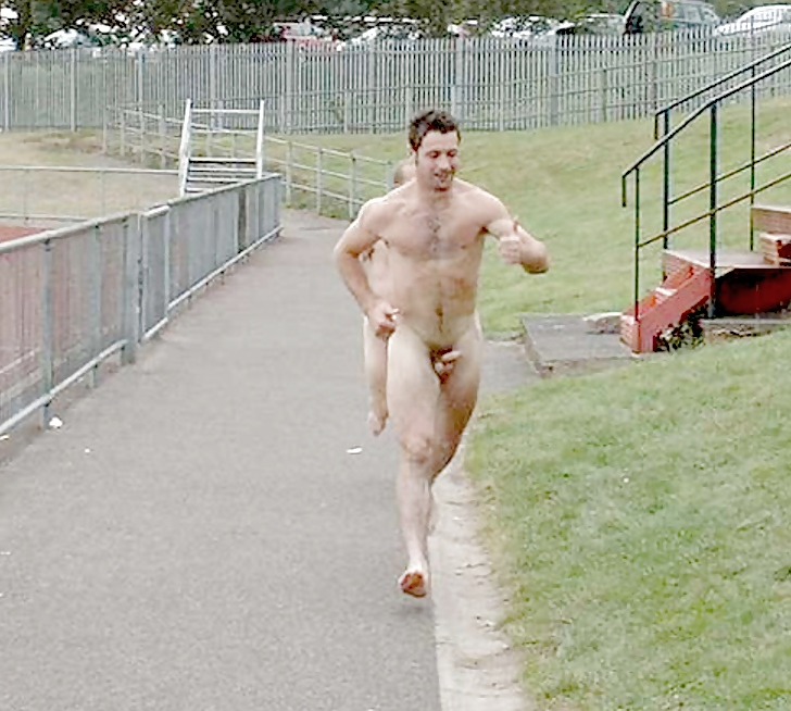 Hung nude men running