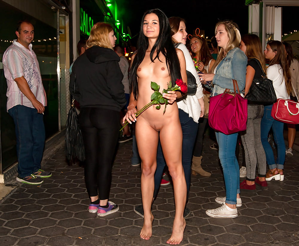 Teens nude in public