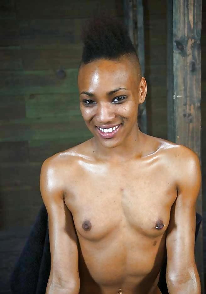 Porn skinny black