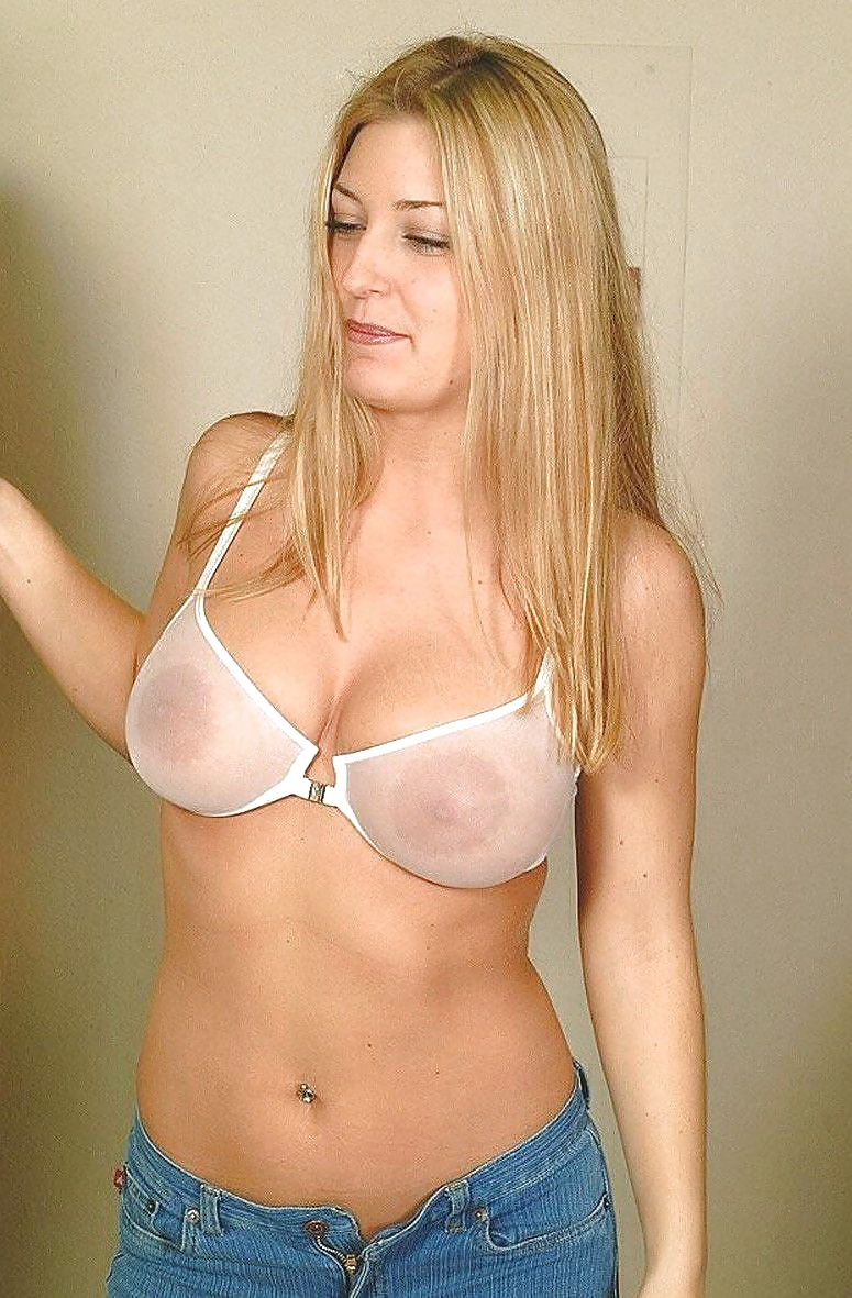 Mature small tits in sheer bras