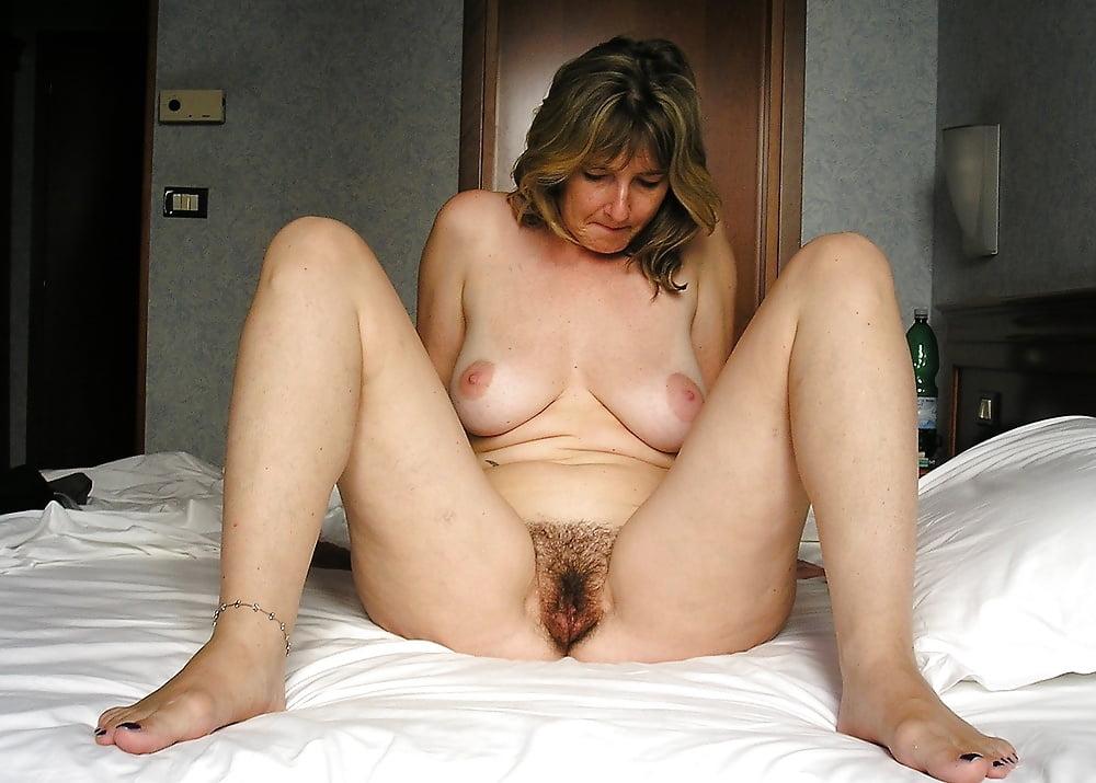 Amazing mature hairy moms posing nude