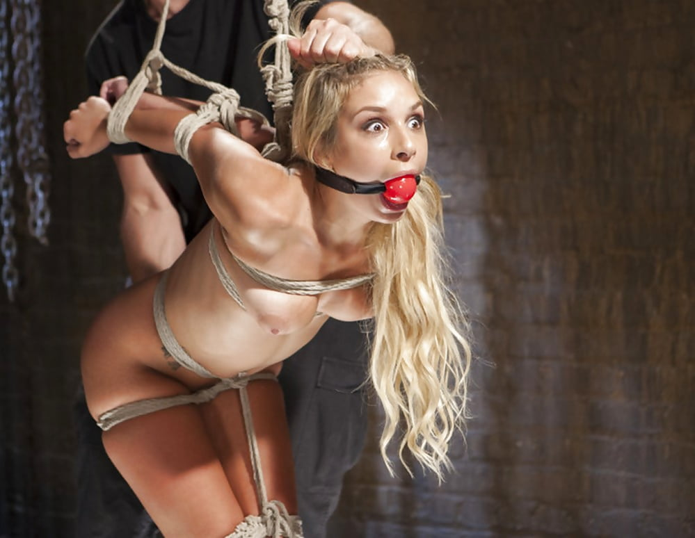 Blonde slave slut sex toy slave girl in bondage