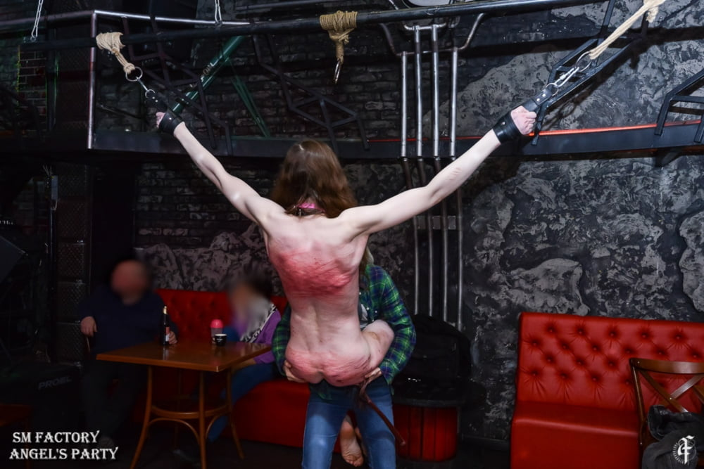 Whipping on BDSM party - 14 Pics
