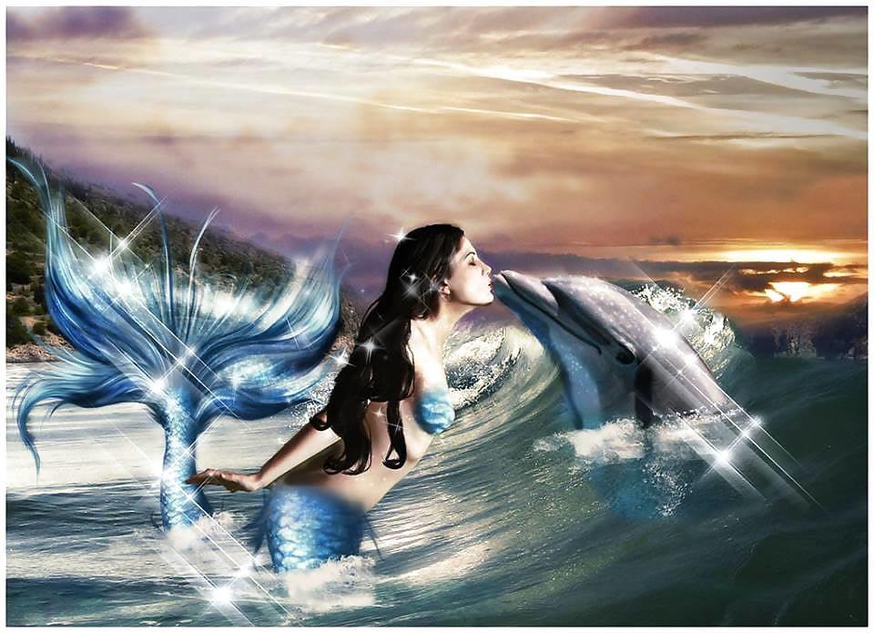 два красивые картинки русалок и дельфинов что каждый день
