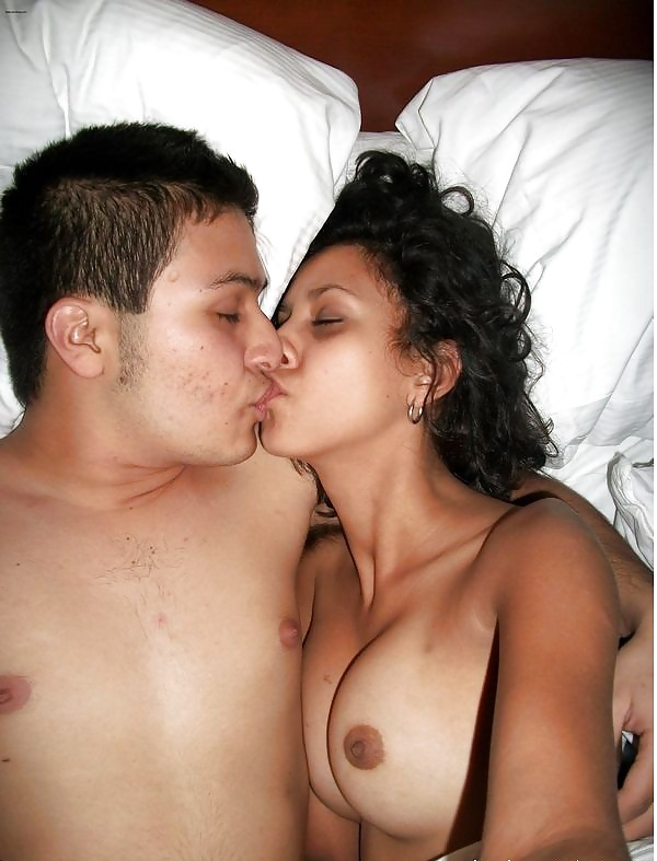 Loving Affectionate Nude Young Heterosexual Couple Stock Photo