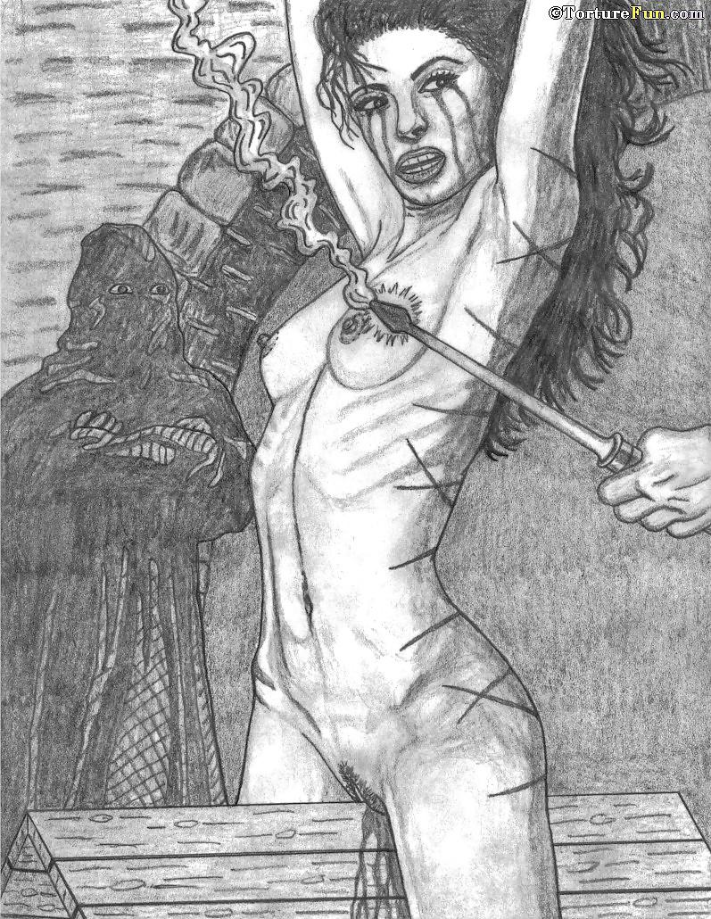 Drawings torture bondage
