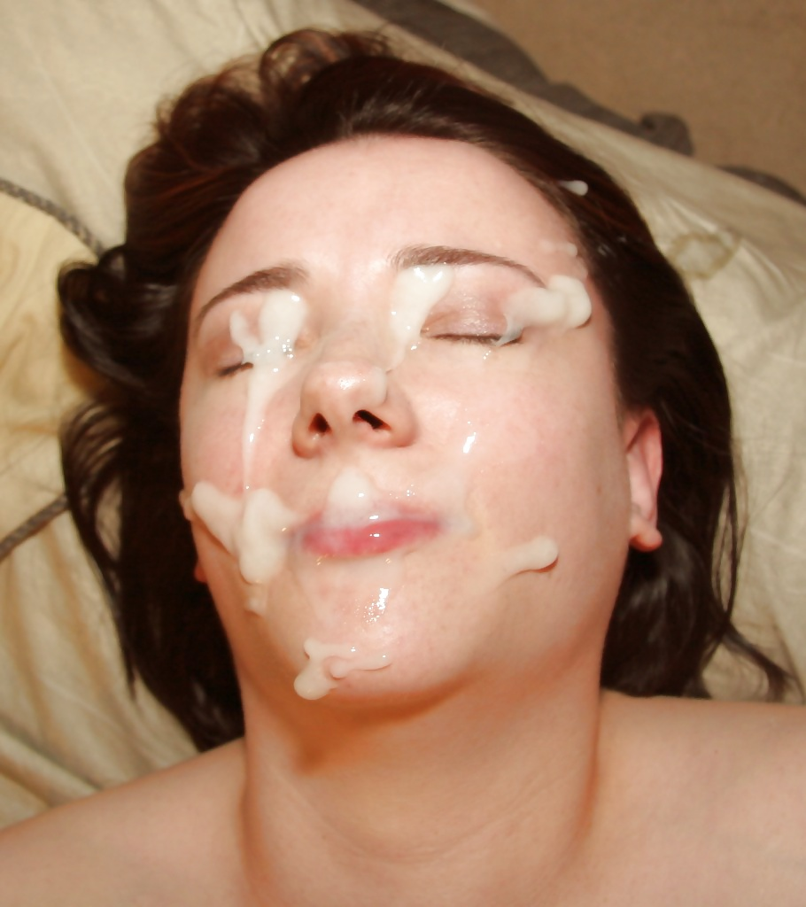 Awesome facial cumshot wife