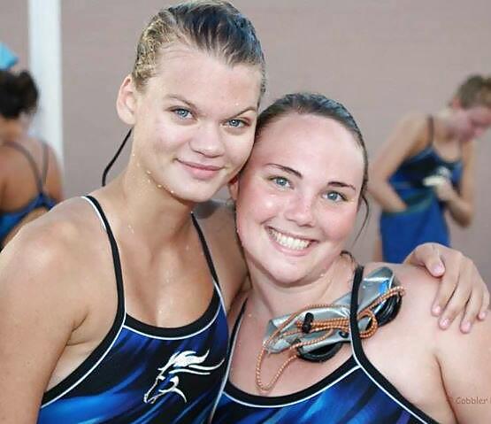 Nude female swim team