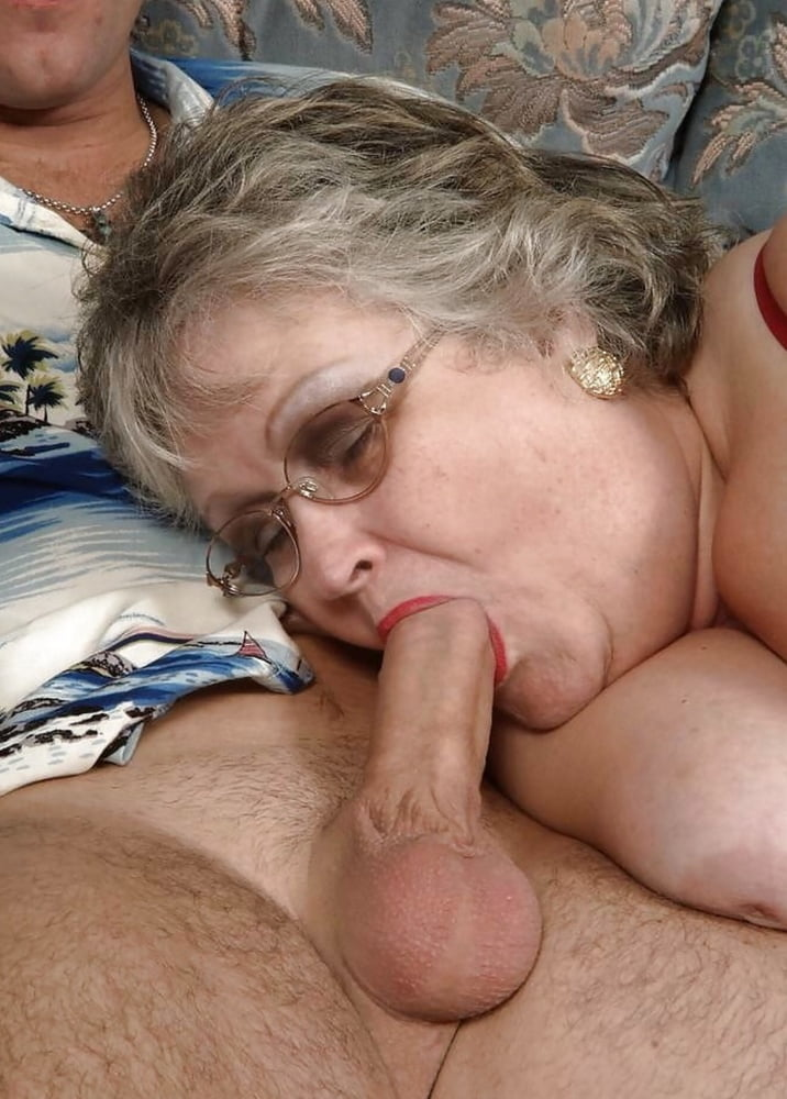 Deepthroat granny loves black cock