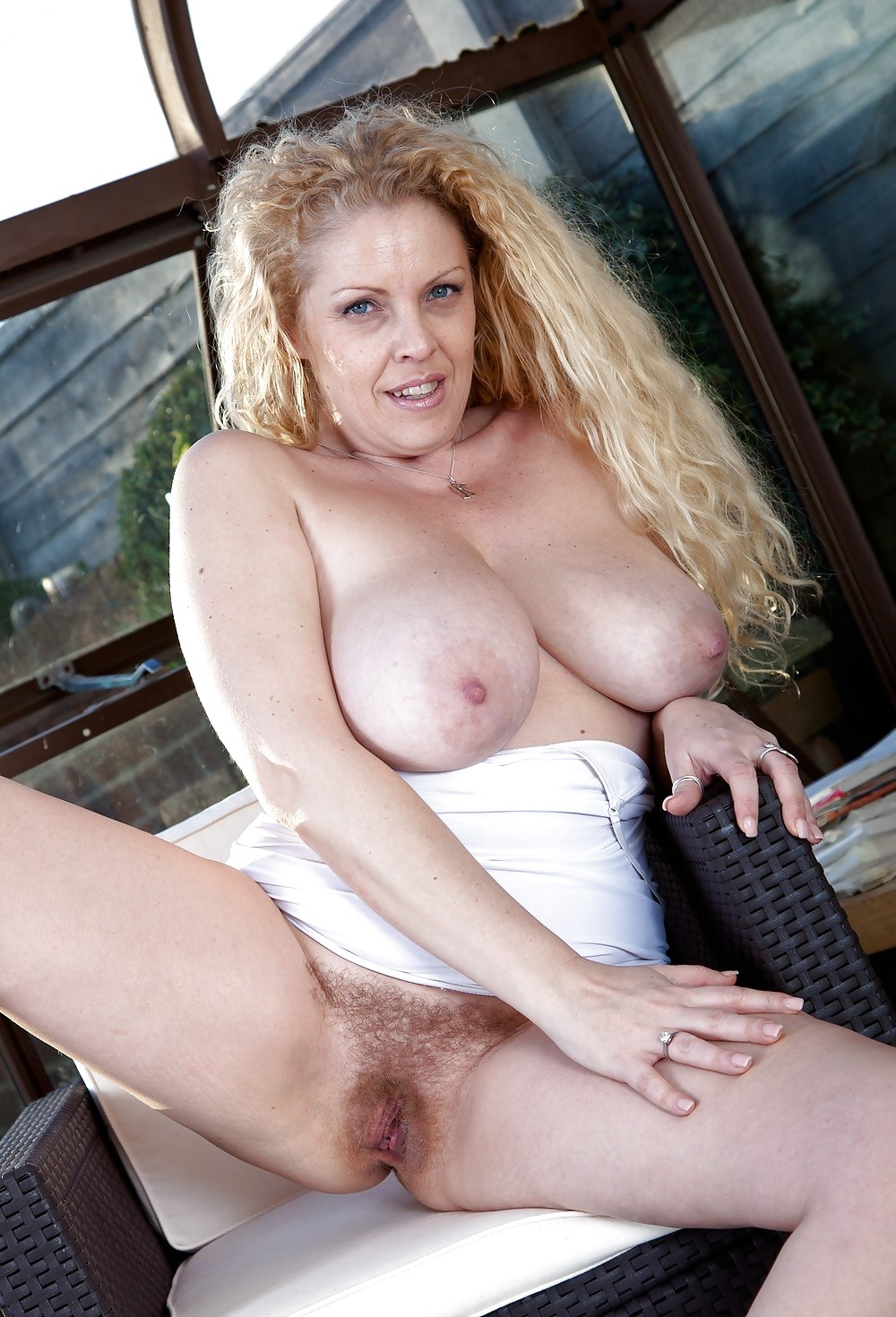 Mature Blonde Big Naturals Hairy