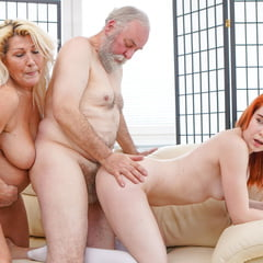Fucking An Old Couple At GrandParentsX