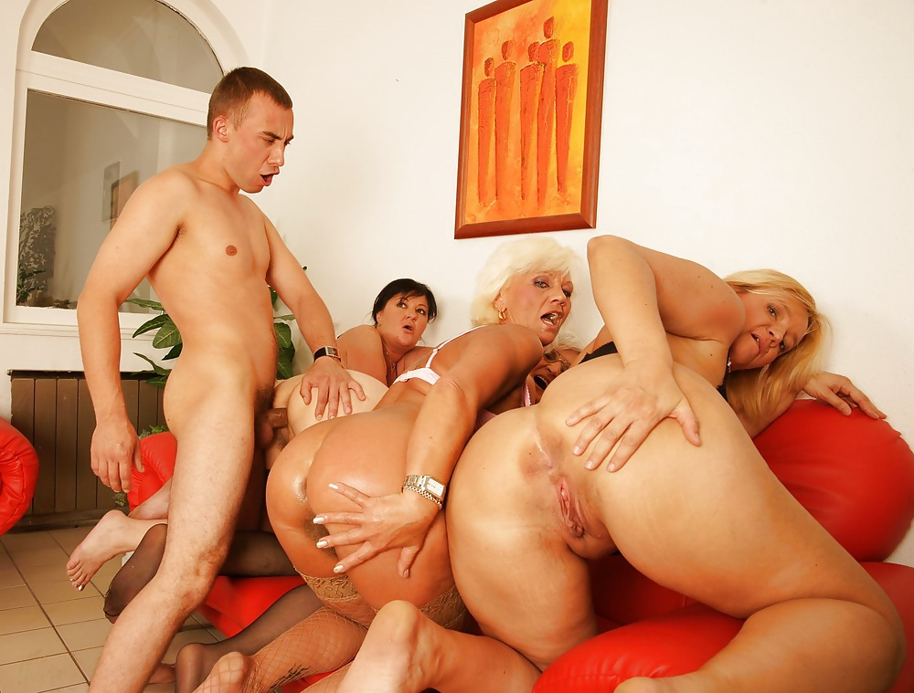 Grannies group sex 7