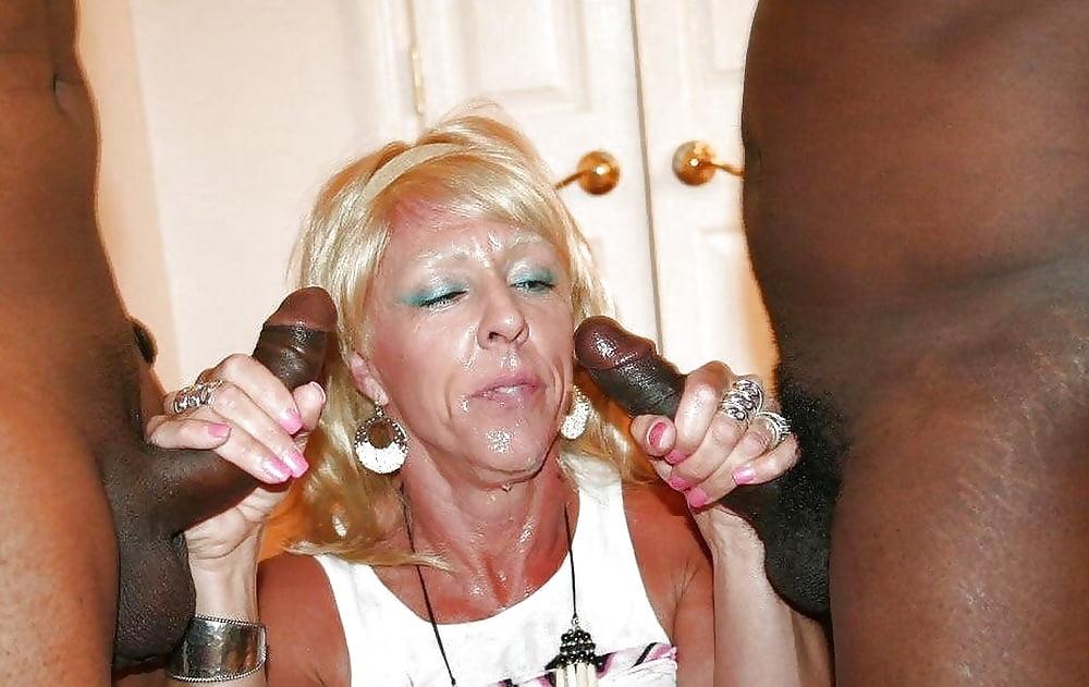Black granny white dick
