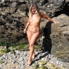 Lisa shows her beautiful body on the beach