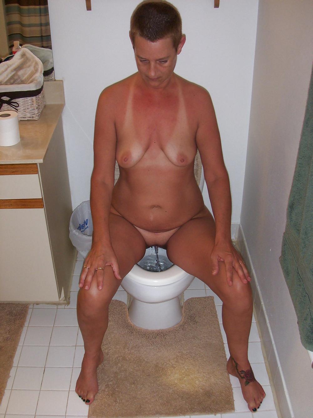 Skinny naked mature