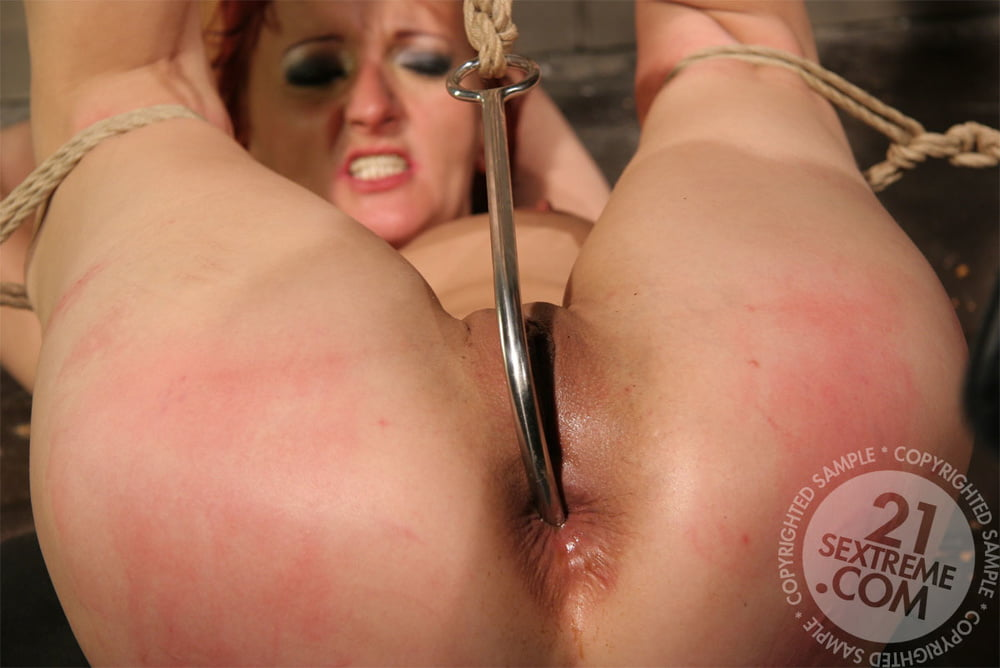 Lustful girl with a hook in her ass bounded by sexy mistressadult live cam