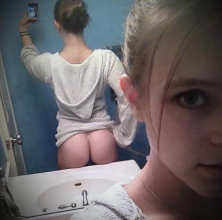 half naked selfie whores