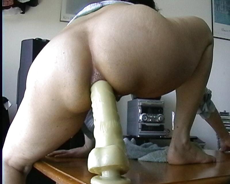 Ass mature dildo