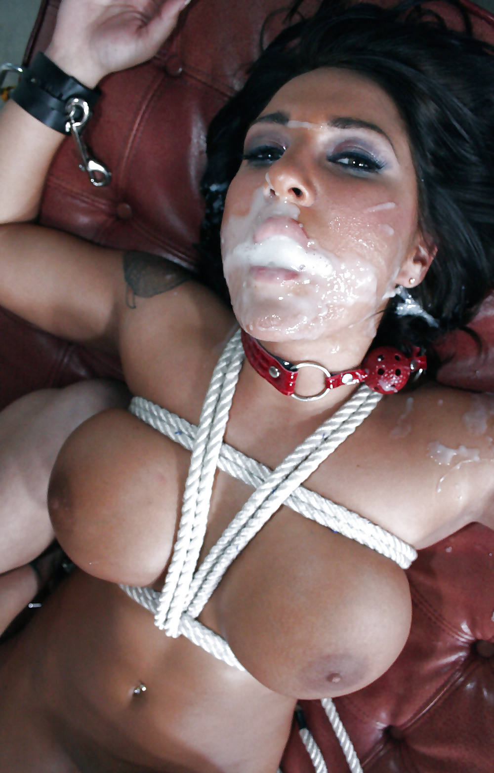 Submission Sub Cum Ds Bdsm Drool Drooling Gagged Cum In Face Violentlyandpassionate
