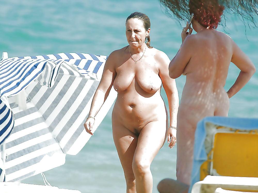 Naked mature beach moms #6