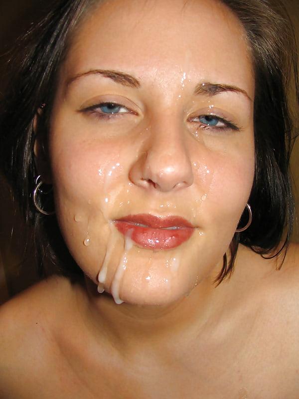 сперма на губах жен - 8