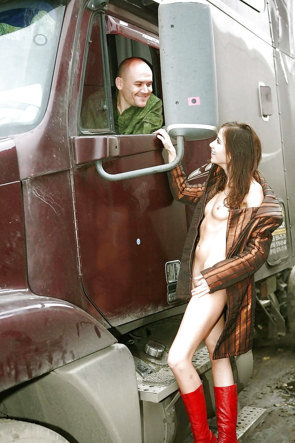 Girl in truck stop porn watched