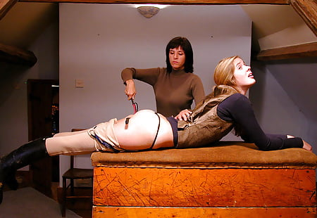 Spanked with a riding crop