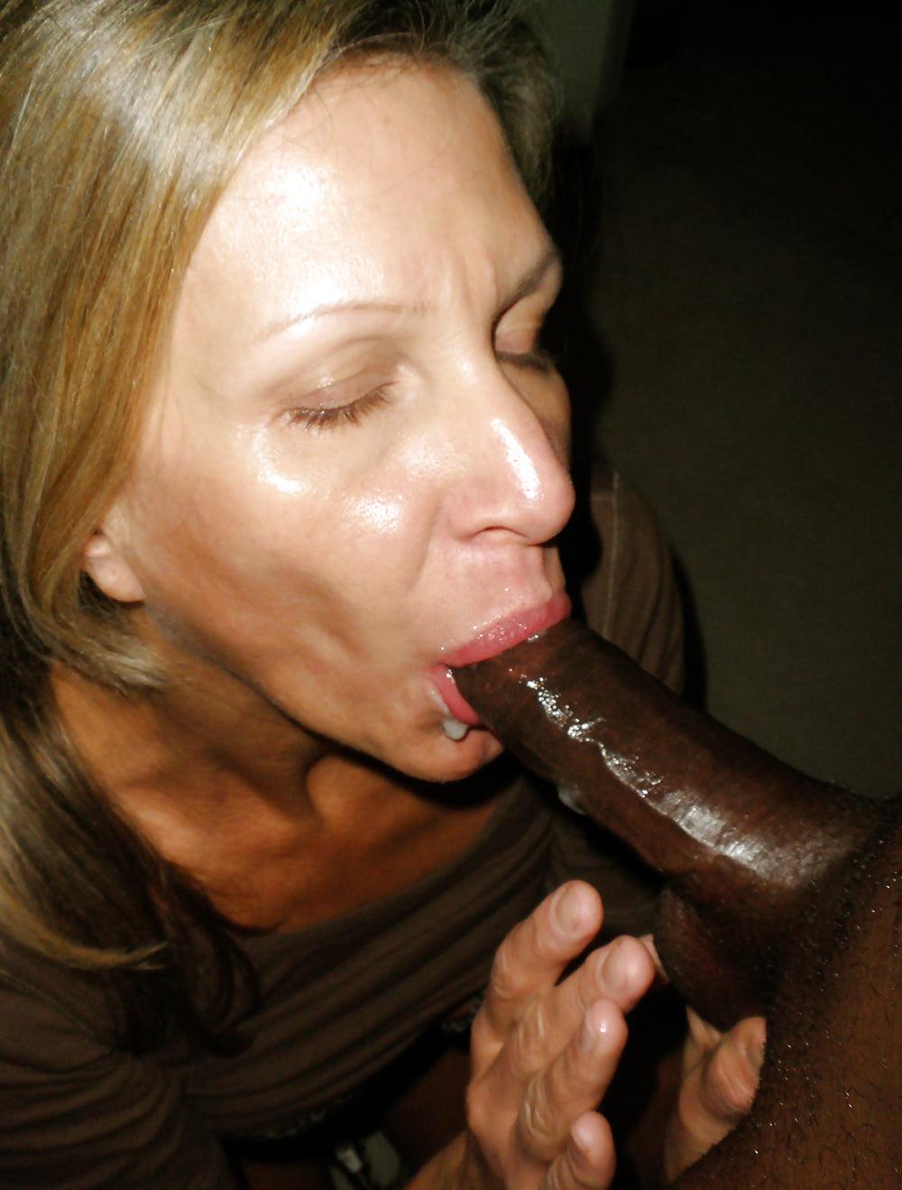 Slow mature moms black cum boobs