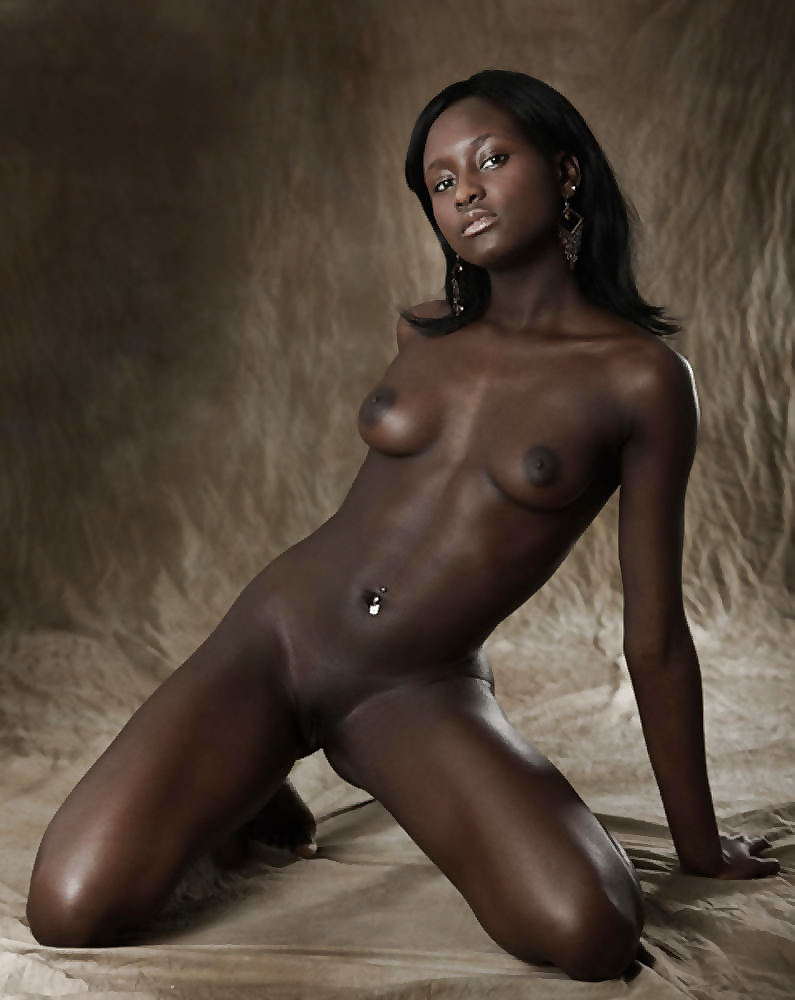 Beautiful naked dark black women