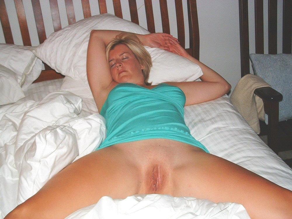 Husband wife sleeping naked