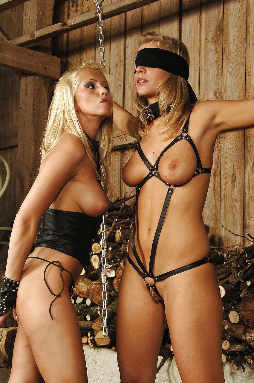 Hot blonde girl bondage