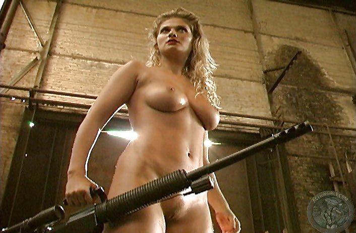 Women shooting guns naked gif — photo 9