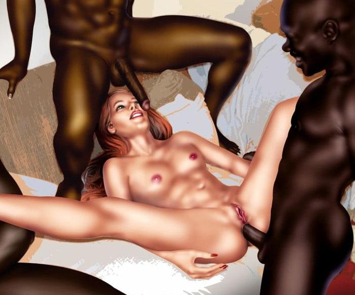 Interracial cartoon porn pics cum in