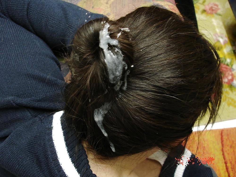 Сперма на волосах фотографии