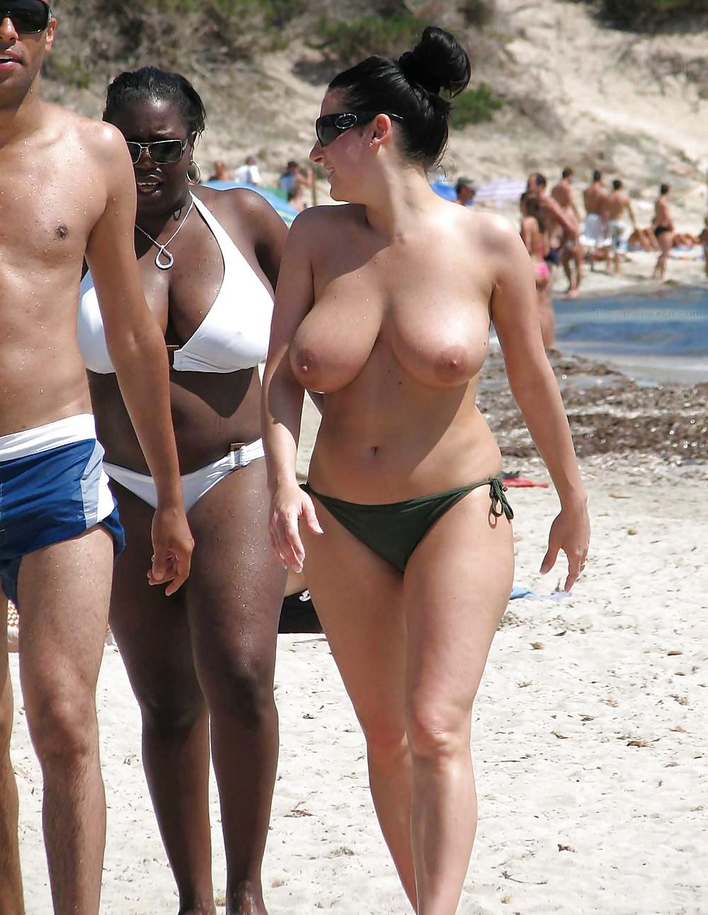 Perfect boobs big tits nude beach