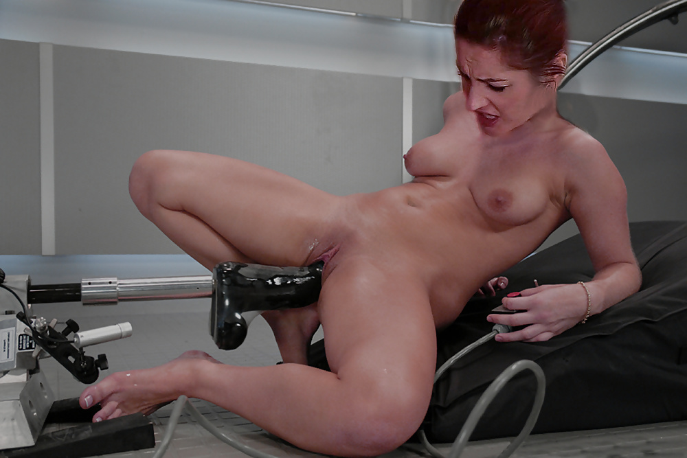 Hot latina august night rides the sybian sex machine then sucks her pussy juice off the cock