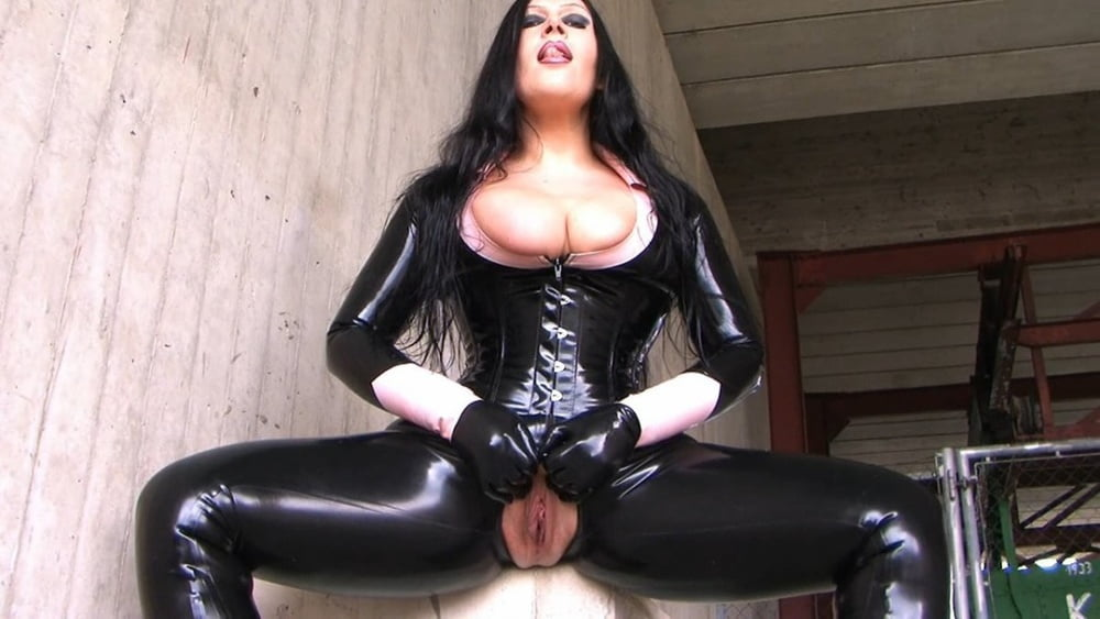 Black Haired Anna In Sexy Latex SisLovesMe 1