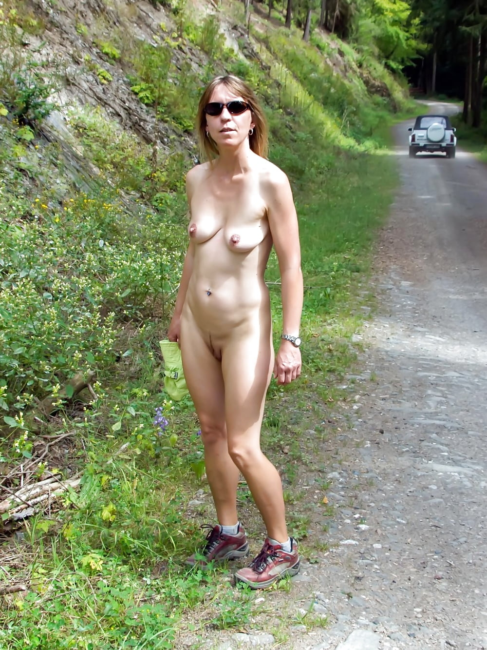 Submitted pics of horny amateur girl naked outdoors