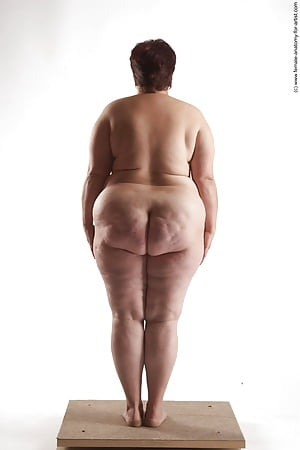 Nude fat woman
