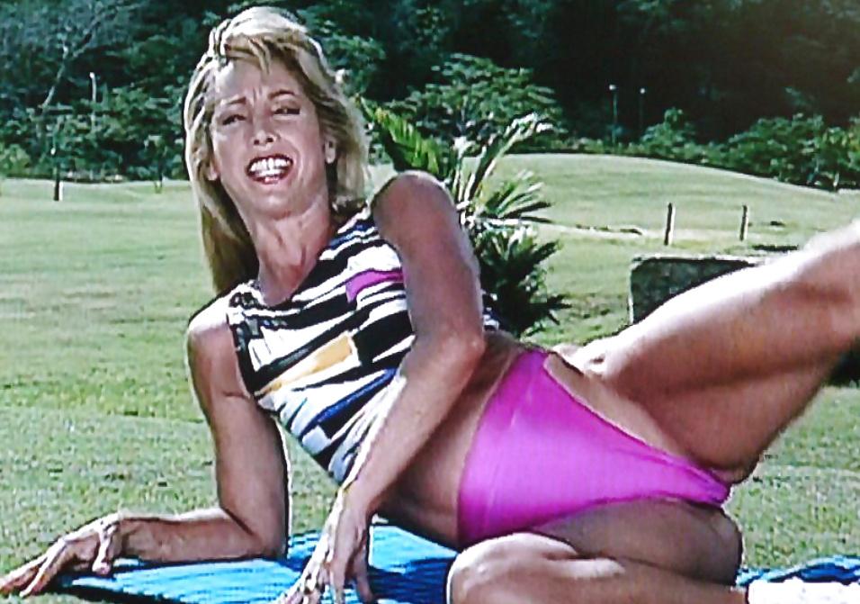 Denise austin shares workout photo with mini