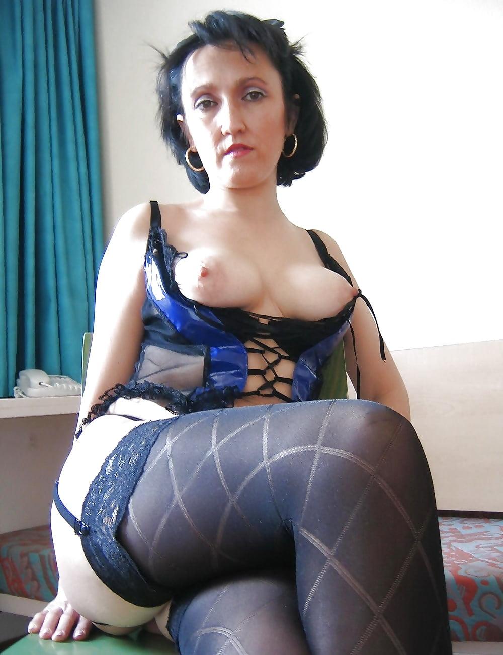 Pussy mature stockings Stockings