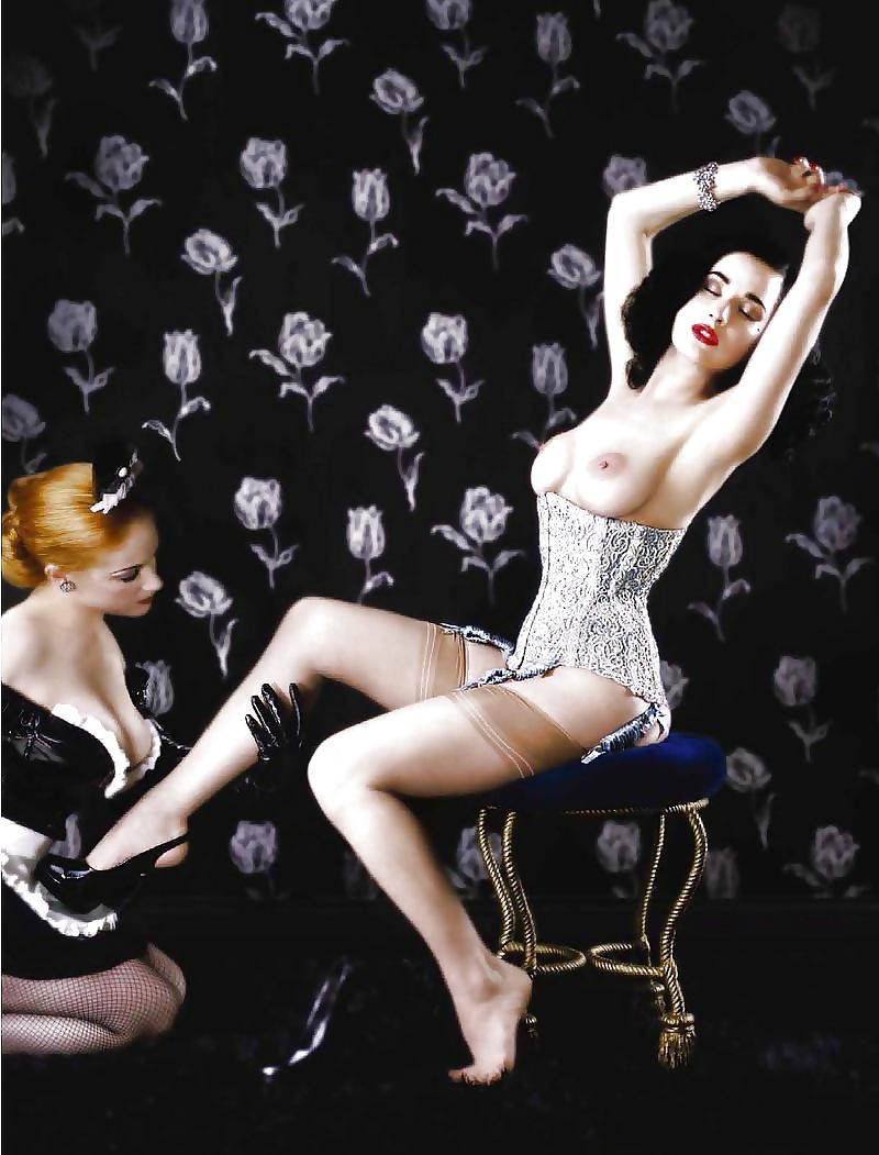 порно лесби в стиле бурлеск - 8