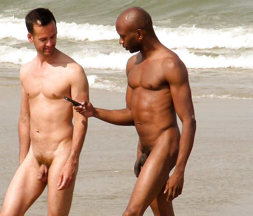 men naked at the beach