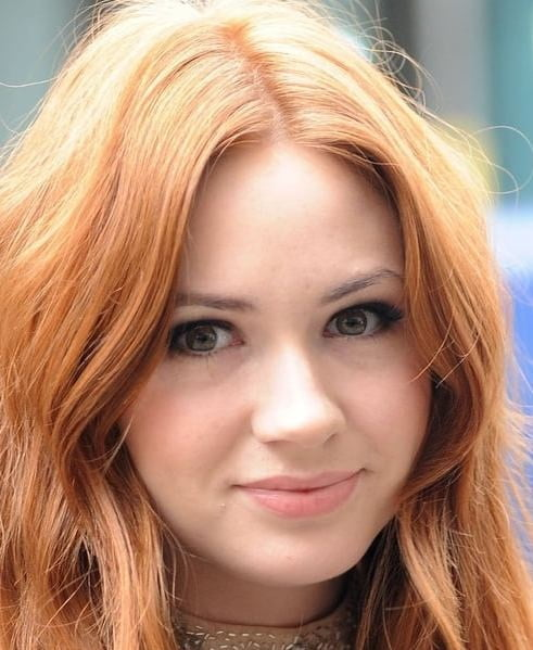 Natural red hair with blonde