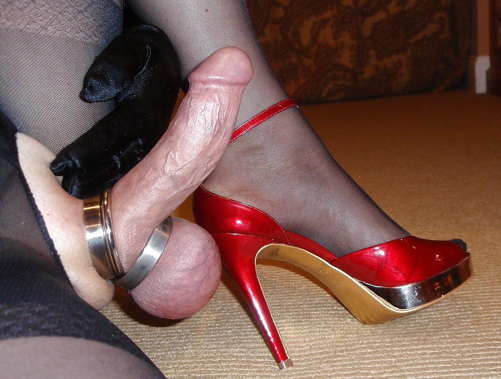 Red high heel cock cum free XXX galeries