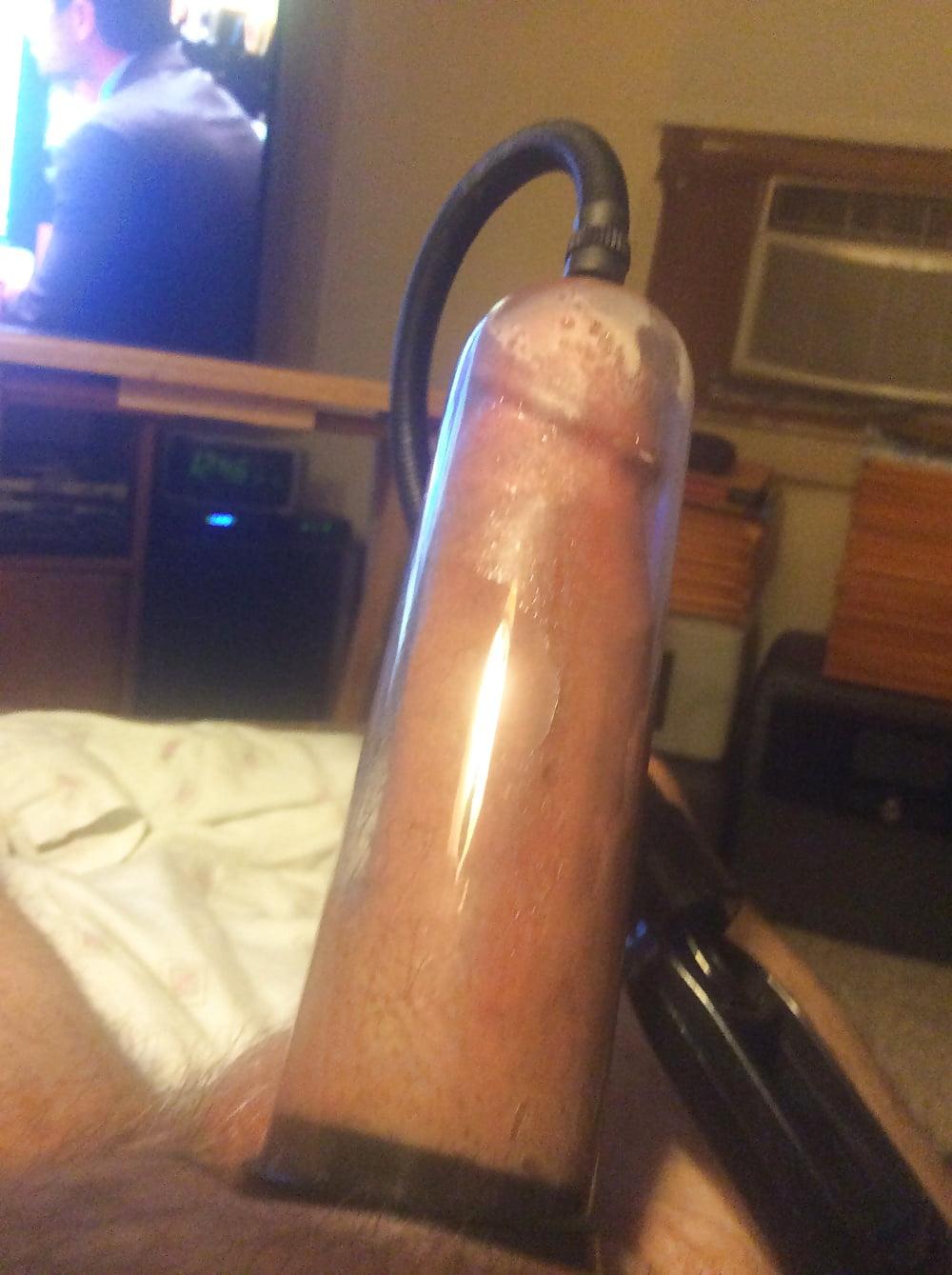 Penis pumping my cock video