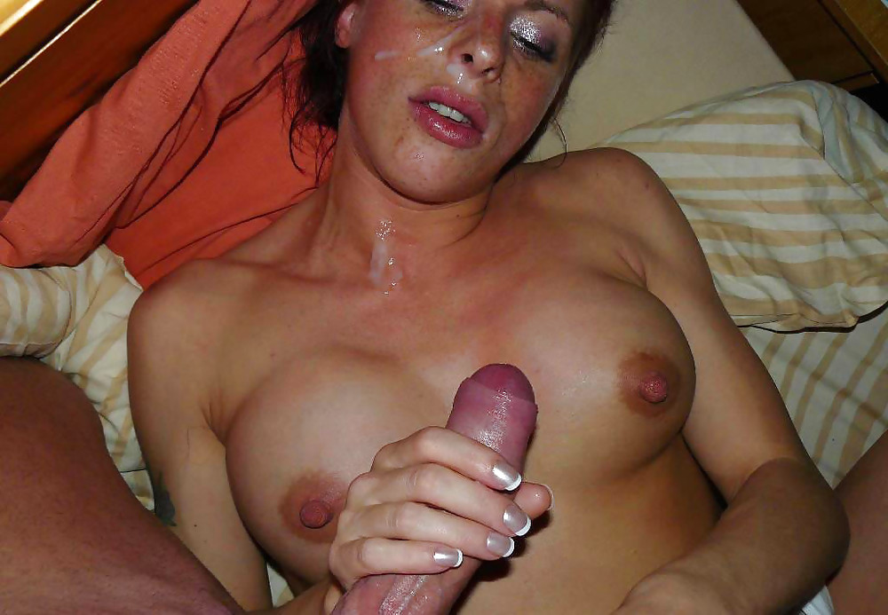 Wife gets large cumshot — 2