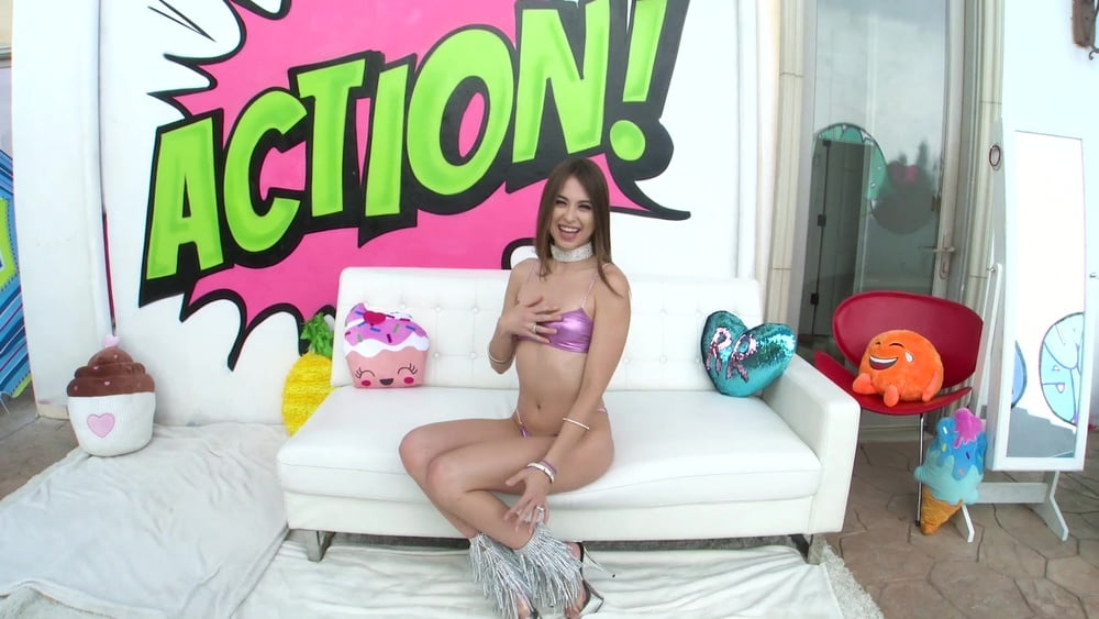 Little Brunette Riley Reid Takes His Big Cock in Her Mouth - 81 Pics